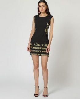 Vestido recto bordado - Tutto Tempo