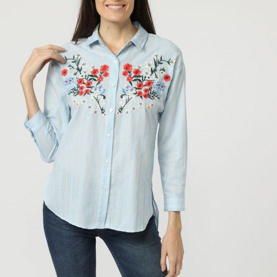 Camisa bordada floral - Tutto Tempo