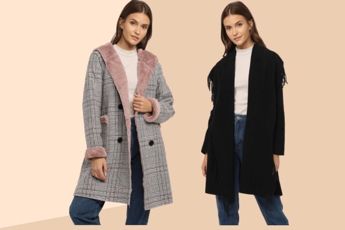 temporada otoño moda mujer abrigo
