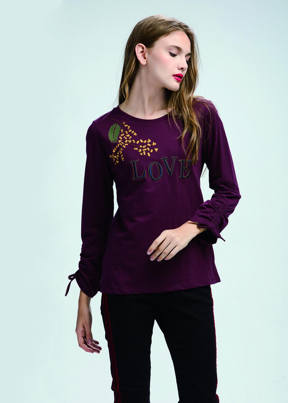 Camiseta algodón bordada