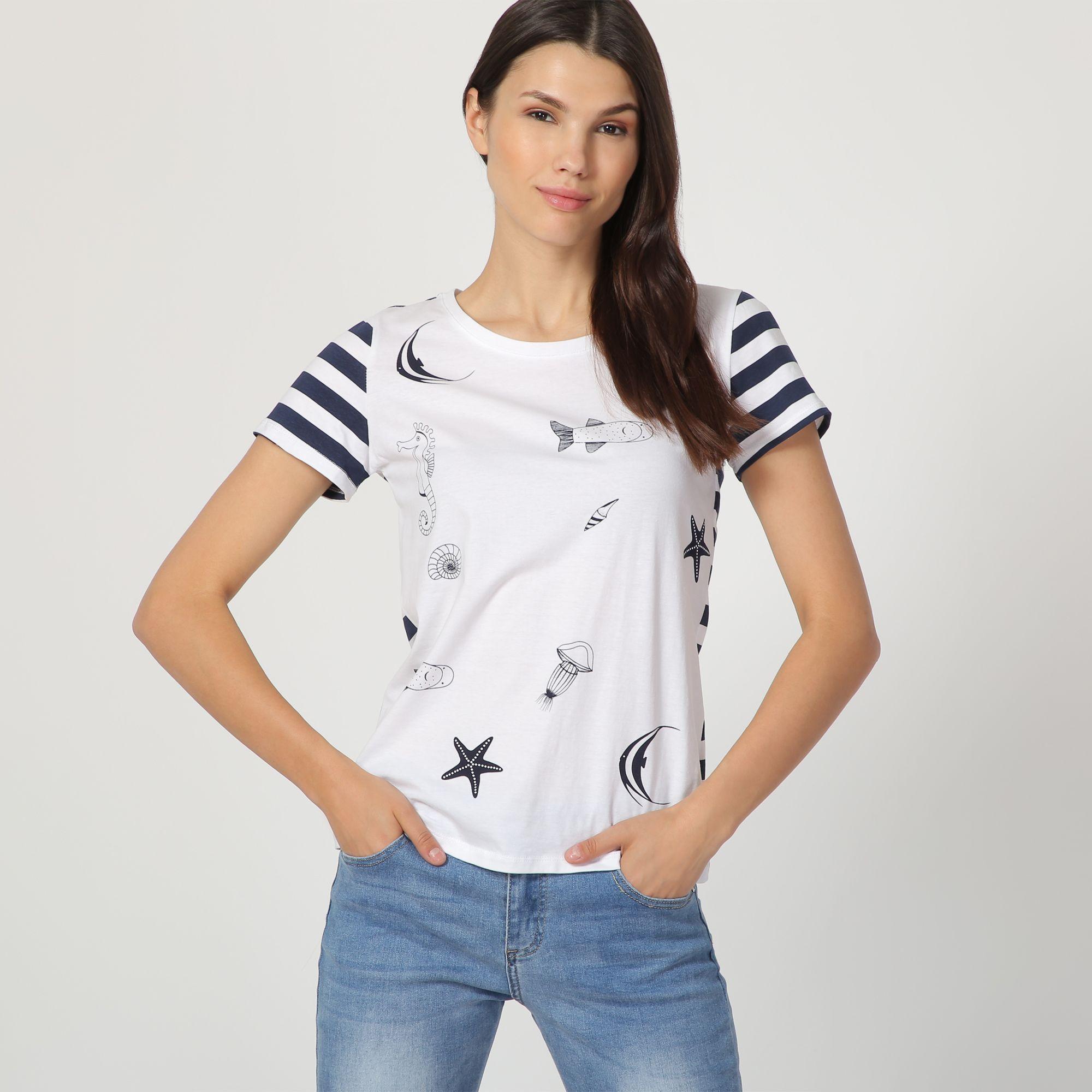 Camiseta combinada